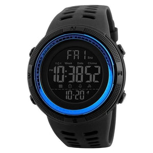 Unisex Sport Watch Chronograph Black Blue
