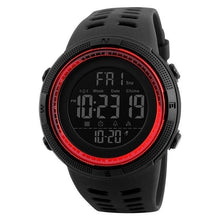 Load image into Gallery viewer, Unisex Sport Watch Chronograph Black Red
