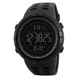 Unisex Sport Watch Chronograph Black