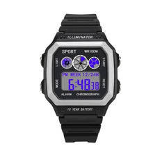 Load image into Gallery viewer, Vintage Led Sports Waterproof Chronograph White