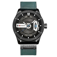 Load image into Gallery viewer, Washed-Out Casual Leather Watch For Men Black Blue
