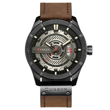 Load image into Gallery viewer, Washed-Out Casual Leather Watch For Men Black White
