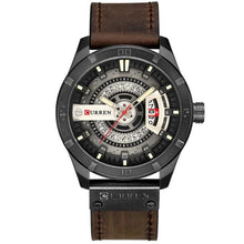 Load image into Gallery viewer, Washed-Out Casual Leather Watch For Men Black
