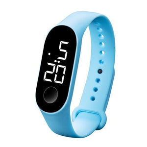 Waterproof Sport Band For Men And Women Sky Blue