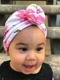 """Pink Rose"" Donut Turban"