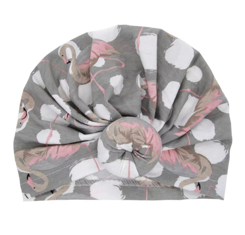 """Pink Flamingo"" Donut Turban"