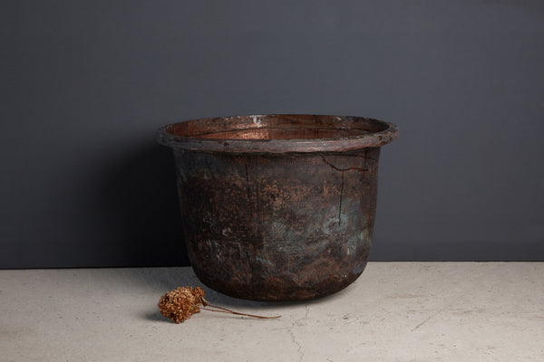 Extra-Large Tree Size Bronze Batik Pot from Jakarta