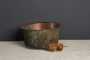 19th Century Hammered French Cooking Pot