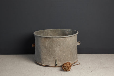 Extra Large French Zinc Planting Pot