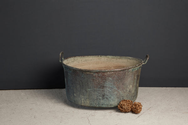Extra Large French Copper Pot with Handles - Tree Size