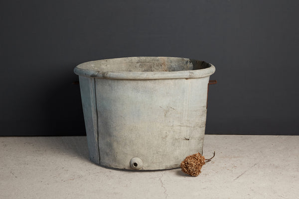 Extra Large French Zinc Wine Makers Pot - Tree Size