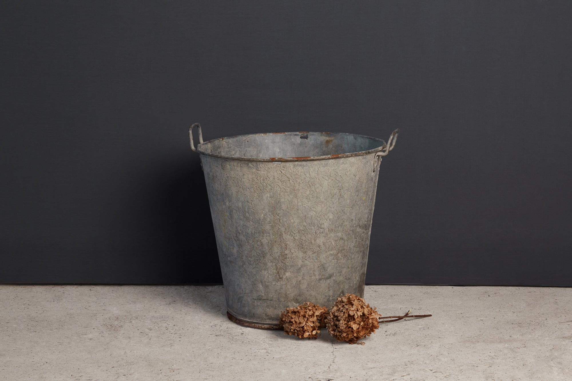 19th Century German Zinc Farm Bucket