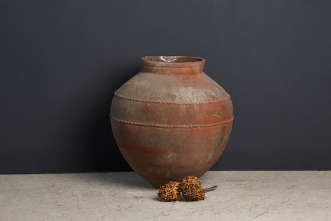 Large 19th Century Spanish Oil Jar