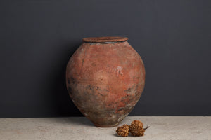 Smaller Spanish Terra Cotta Water Jar with Hairline Crack