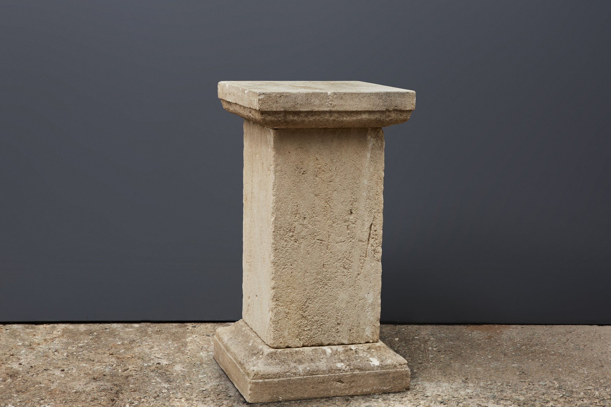 Carved French Limestone Pedestal