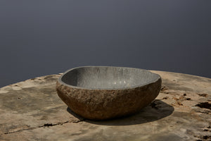 Small Natural Carved Sink from Java