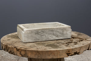 White Marble 19th Century Greek Sink from Single Block of Stone
