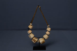 Tribal Papua Shell Necklace Mounted on Stand