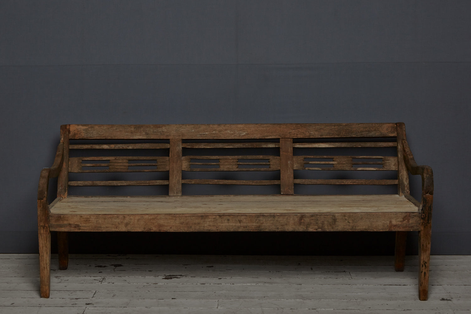 Dutch Colonial Teak Bench from Sumatra