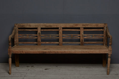 Classic Style Dutch Colonial Teak Bench