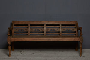 Classic Style Dutch Colonial Teak Bench from Jakarta