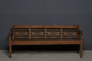 Teak Dutch Colonial Classic Style Bench from Java Island
