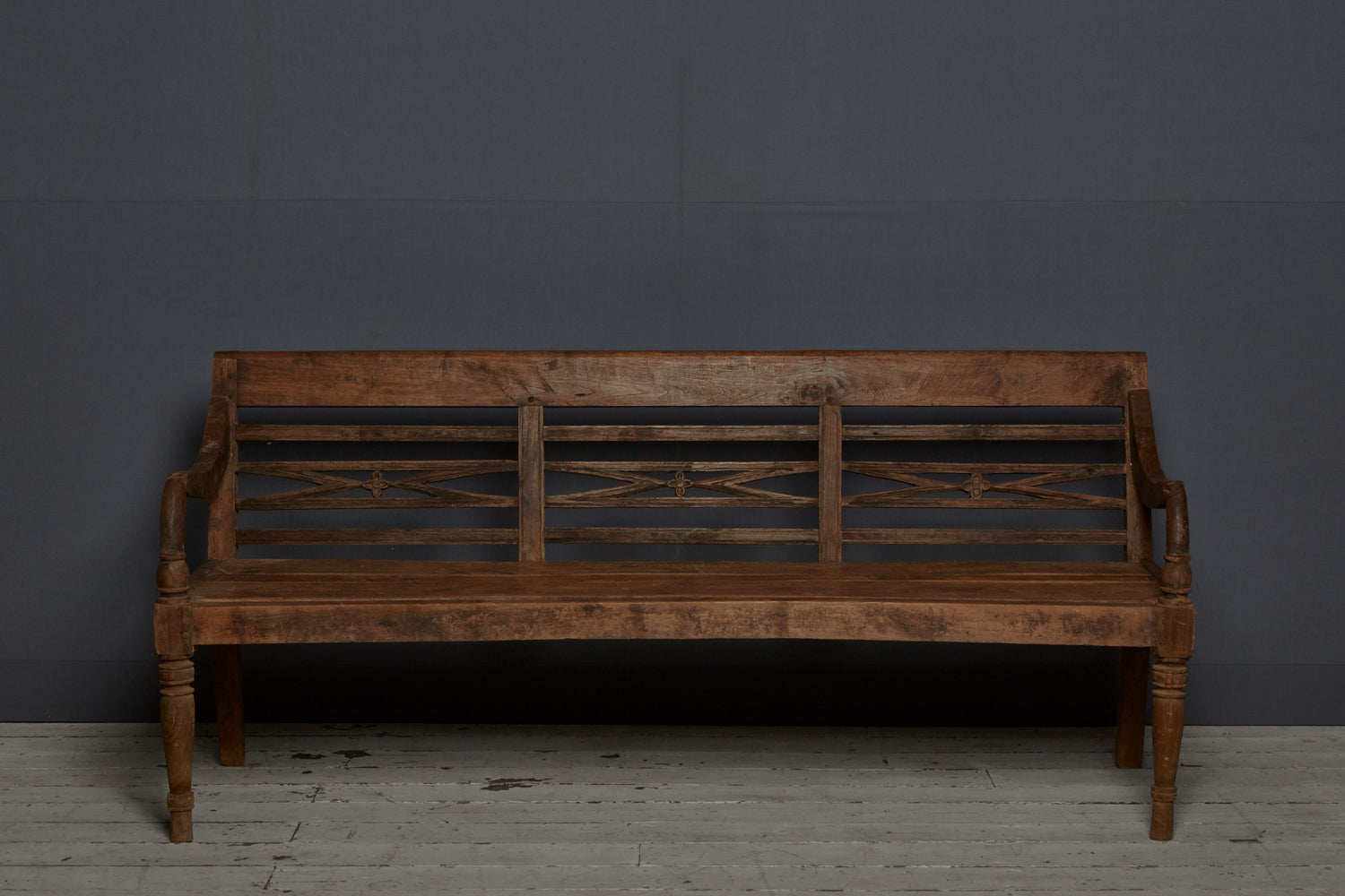 Copy of Teak Dutch Colonial Classic Style Bench from Java Island