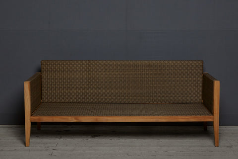 Teak & All Weather Rattan Sofa by Michael Trapp