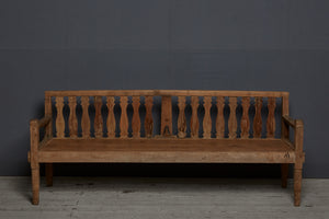 Splat Back Dutch Colonial Teak Bench from Java Island