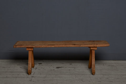 Flat Topped Teak Bench from Sumatra