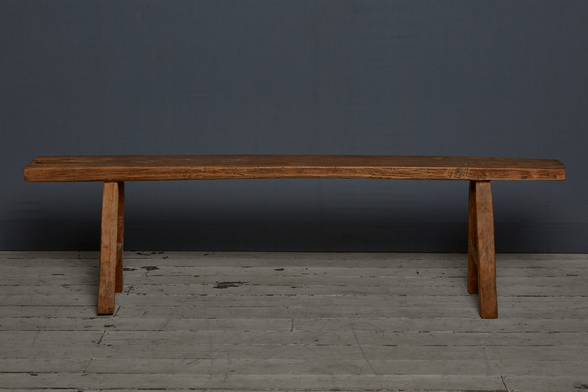 Simple Flat Topped Teak Bench from Java