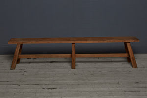 Arts & Crafts Style Teak Flat Topped Bench from Jakarta
