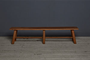 Arts & Crafts Style Flat Topped Teak Bench from Jakarta
