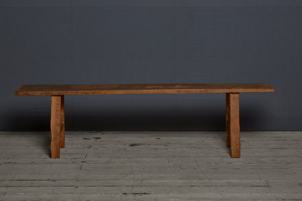 Simple Flat Topped Teak Bench