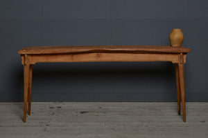 Long Single Board Natural Topped Teak Server