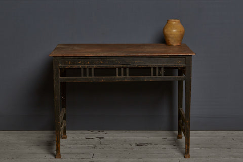 1930's Dutch Colonial Teak Stand with Ebonized Base