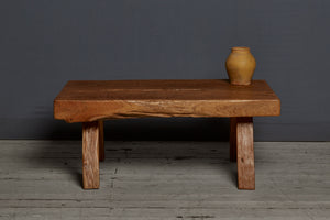 Large Thick Topped Teak Table
