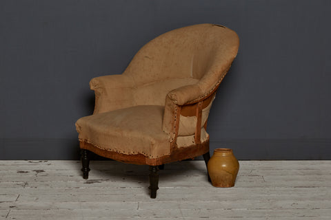Early 20th Century French Upholstered Arm Chair