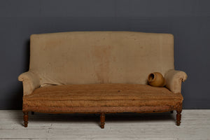 Small 19th Century French Tall Backed Sofa