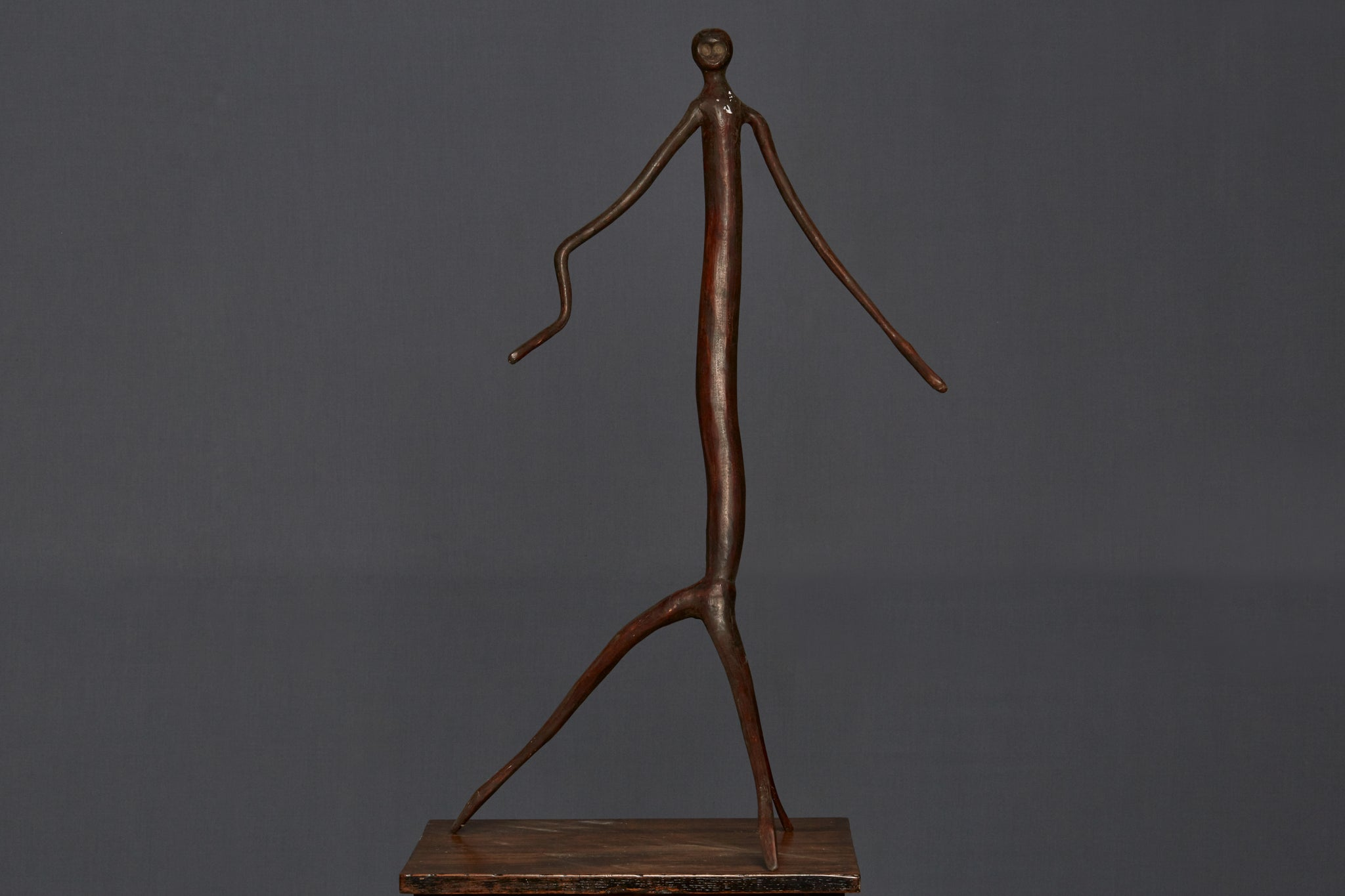 Large Mounted Mentawai Dancing Stick Figure