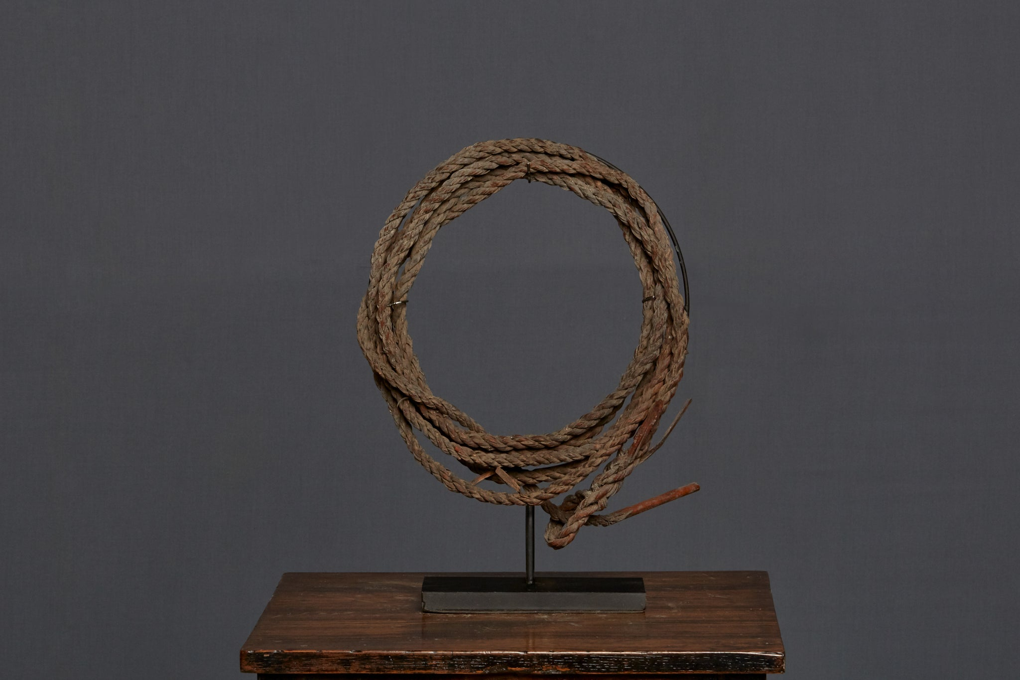 Mounted Rattan Lariat from Borneo