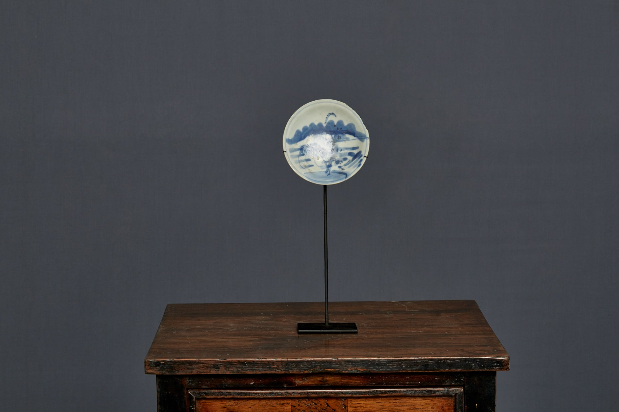 Early 18th Century Kanxi Mounted Blue & White Saucer