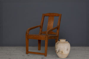 19th Century Teak Dutch Colonial Arm Chair from Jakarta