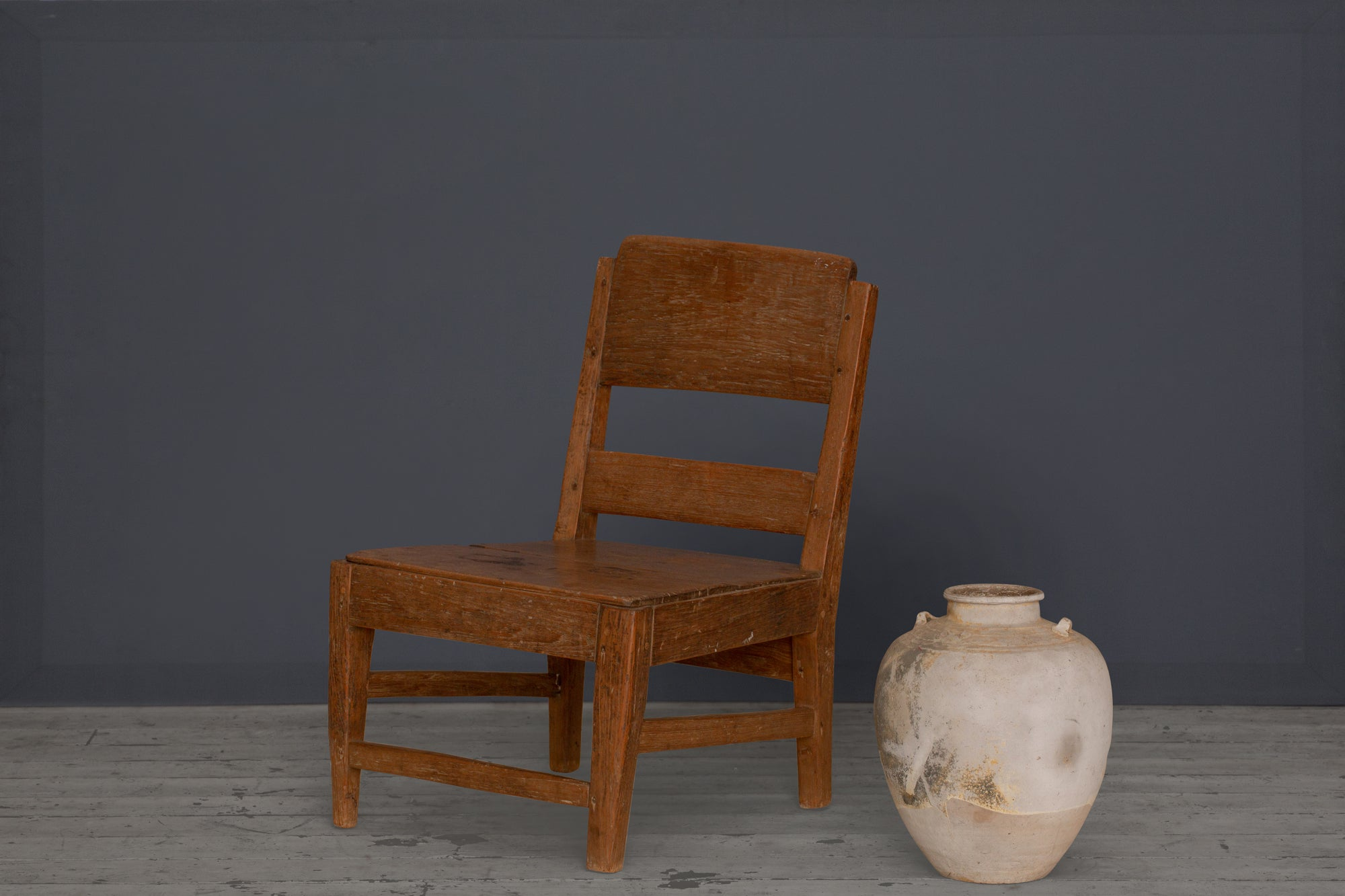 Simple Teak Dutch Colonial Lounge Chair