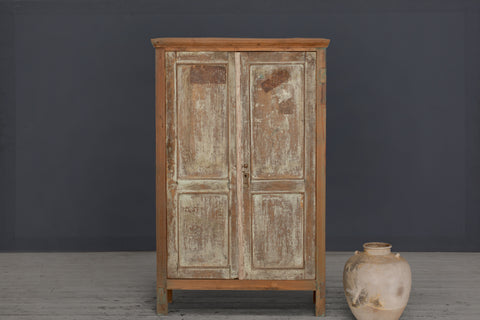 19th Century Small, Thin Dutch Colonial Teak Cabinet