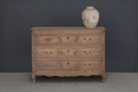 18th Century 3 Drawer Belgium Oak Commode
