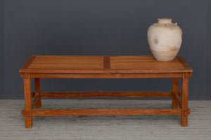 Teak & Bamboo Coffee Table in An Arts & Crafts Style