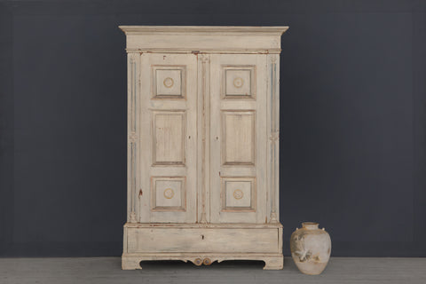 Early 19th Century Gustavian White Pane Cabinet