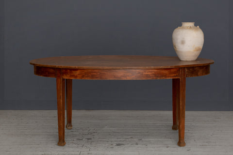 Dutch Colonial Oval Teak Dining Table from Java