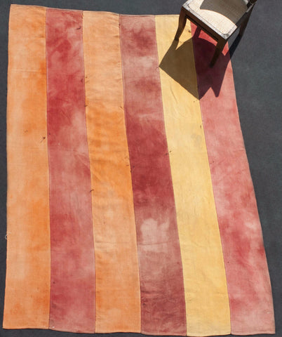 Perde With Red, Orange And Yellow Stripes